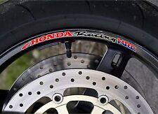 QTY X10 HONDA RACING HRC WHEEL RIM STICKERS - PRINTED DECAL CBR 600