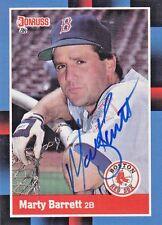 1988 Donruss #276 Signed Marty Barrett Red Sox 2B Autograph JSA