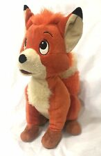 """Disney Store Exclusive The Fox And The Hound Todd Stuffed Plush RARE 14"""""""