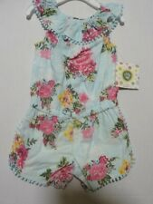 New Little Me Baby Girl's Multi-Colored Sleeveless Romper Size 12 Months
