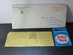 Vintage 1963 Pittsburgh Pirates Baseball Schedule + Ticket Request