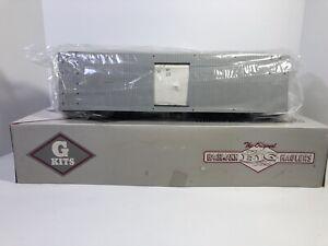 "BACHMANN BIG HAULERS WOODEN BOX CAR # 98903 NEW SEALED ""G"" GAUGE Plastic Kit"