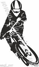 Vinyl Wall Art mountain bike Down Hill Decalcomania