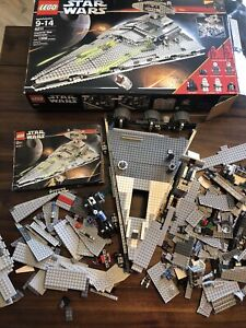 Lego Star Wars 6211 Sith/Imperial Star Destroyer Incomplete Parts Box Pieces
