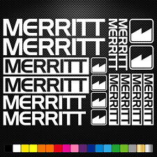 Compatible Merritt Bmx Vinyl Decals Sheet Bike Frame Cycle Cycling Bicycle Mtb