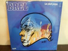"""LP 12"""" JACQUES BREL - 1 Le Plat Pays - NM/MINT - NEUF - PHILIPS 200321 - FRANCE"""