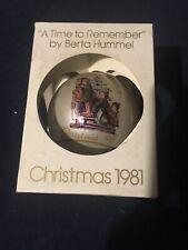 "Schmid Berta Hummel 1981 ""Time To Remember"" Christmas Bulb Ball Ornament Nib"