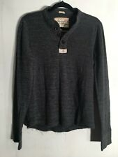 Abercrombie & Fitch Muscle Gray Henley Shirt Size Medium