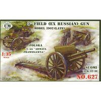 3INCH (EX RUSSIAN) FIELD GUN, MODEL 1902 (LATE) WWI 1/72 UNIMODEL UMT 627