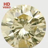 Natural Loose Diamond Round SI1 Clarity Light Yellow Color 2.80 MM 0.09 Ct N6476