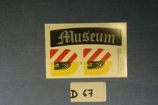 (D67) Playmobil stickers musée médiéval 3666 3442 3445 3455 3688 3665
