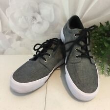 Ralph Lauren Polo Faxon II Low Canvas Sneakers Grey Big Kid's US 5.5 UK 5 EUR 38