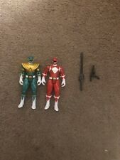 Mighty morphin power rangers 2010 4 inch red ranger and green ranger