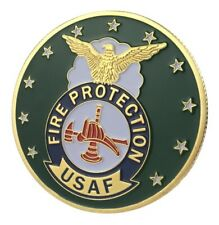 U.S. United States Air Force USAF | Fire Protection | Gold Plated Challenge Coin