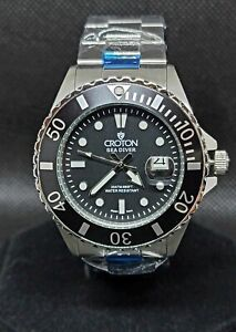Croton Sea Diver Black Bezel Black Dial 42mm Stainless Steel Men's Watch