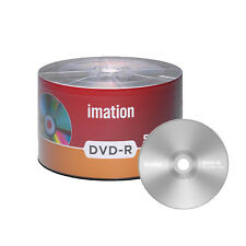 50 Pack Imation DVD-R 16X 4.7GB/120Min Branded Logo Blank Media Recordable Disc