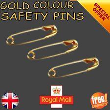 Gold Safety Pins Premium 4 CM UK SELLER