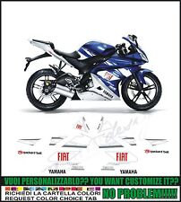 kit adesivi stickers compatibili yzf r 125 moto gp fiat