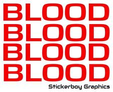 Blood Runners Bikes Bikers SERV Sticker Motorbike DAYGLO Pannier Box 400mm