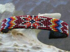 "GORGEOUS Handmade Beaded Bracelet ""GREAT Colors"" Navajo Indian Nathaniel"