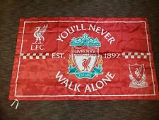 """New listing Liverpool Flag Soccer Club Banner """"You'll Never Walk Alone"""" indoor use 3x5 feet"""