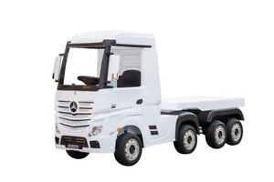 12V Mercedes-Benz Actros Truck with Trailer - White