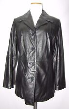 WILSONS LEATHER WOMEN'S BLACK LEATHER JACKET WITH THINSULATE INSULATION SIZE M