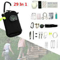 29 Tool Survival Emergency kit 550 Paracord Grenade EDC Outdoor Fishing Camping