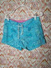 Lilly Pulitzer Brianna Women Size Small Swim Board Shorts Blue Koi Fish Print