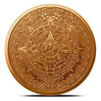 1 oz Copper Round - Aztec Calendar