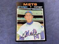 M5-2 BASEBALL CARD - GIL HODGES NEW YORK METS - 1971 TOPPS - CARD #183