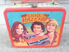 *VINTAGE 1980 ALADDIN DUKES OF HAZZARD METAL LUNCHBOX USED CONDITION NO THERMOS