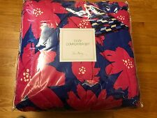 Vera Bradley Art Poppies Sateen Comforter Set Twin XL Bedding 2 PC