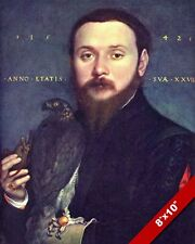 17TH CENTURY FALCONRY FALCON PORTRAIT PAINTING HISTORY ART REAL CANVAS PRINT