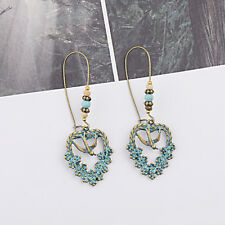 Round Circle Tassel Drop Earrings Boho Bohemian Fringe Tassel Earrings for Women