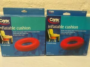 2 ~ CAREX INFLATABLE CUSHION Seat HEAVY GAUGE RUBBER - P703-00 Distressed Box