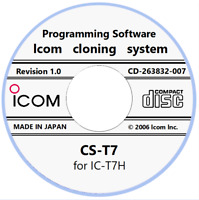 Icom CS-T7 Revision 1.0 Cloning (Programming) Software for Icom IC-T7H