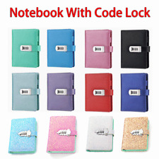 Journal Notebook Refillable Notepad Diary PU Leather Travel with code lock