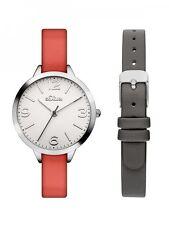 s.Oliver Damenuhr Uhr Armbanduhr Quarz Analog mit Wechselband SO-3239-LQ
