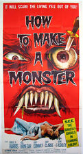 HOW TO MAKE A MONSTER GHASTLY GHOULS A.I.P. HORROR 1958 3-SHEET