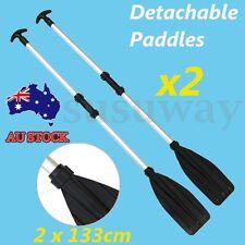 2PCS Premium Adjustable 133CM Telescopic Aluminium Detachable Float Oars Paddles
