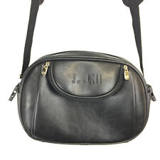 Dunhill Vintage Shoulderbag Black Faux Leather Travel Bag Designer