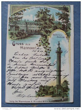 CP Carte postale Postkarte Gruss aus Hannover litho lithographie (3)