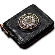 Handmade Wallets Clutch Genuine Crocodile Leather Wallet Coin Purse Card Case
