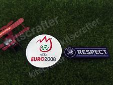 Euro 2008 Soccer Sleeve Patch Set + Respect / European Championship 2008