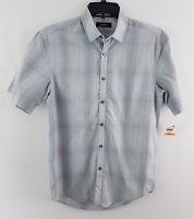 Alfani Men's Variant Grid Pattern Shirt White 12112BW436