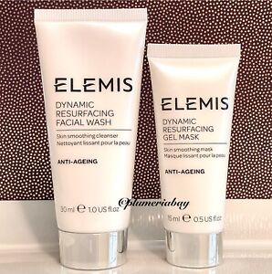 ELEMIS Dynamic Resurfacing Facial Wash Cleanser + Gel Mask ~ TRIAL/TRAVEL SIZE