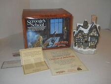 1992 David Winter Cottage Scrooge's School Special for Christmas Signed D. Hart