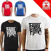 T Shirt Fabri Fibra maglia maglietta nera bianca rossa personalizzata