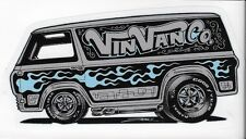 Ford Econoline Vintage Van Sticker 1st Generation Peel and Stick VinVanCo Zombie
